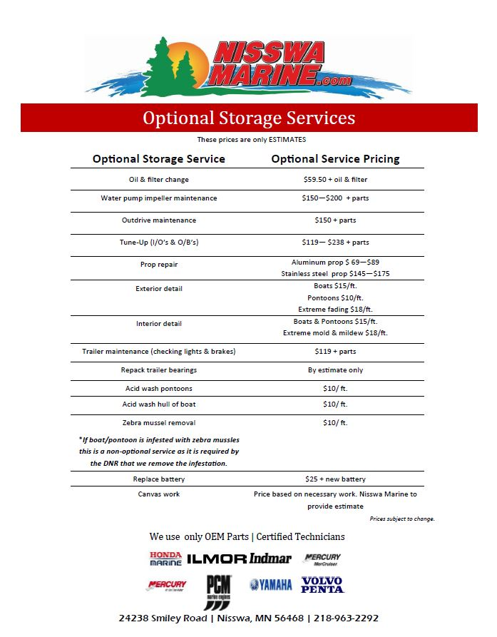 Boat Storage and Delivery Nisswa Marine